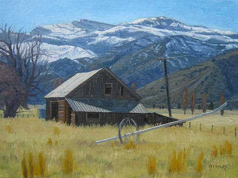 Montana plein air painter painting East of the Warners
