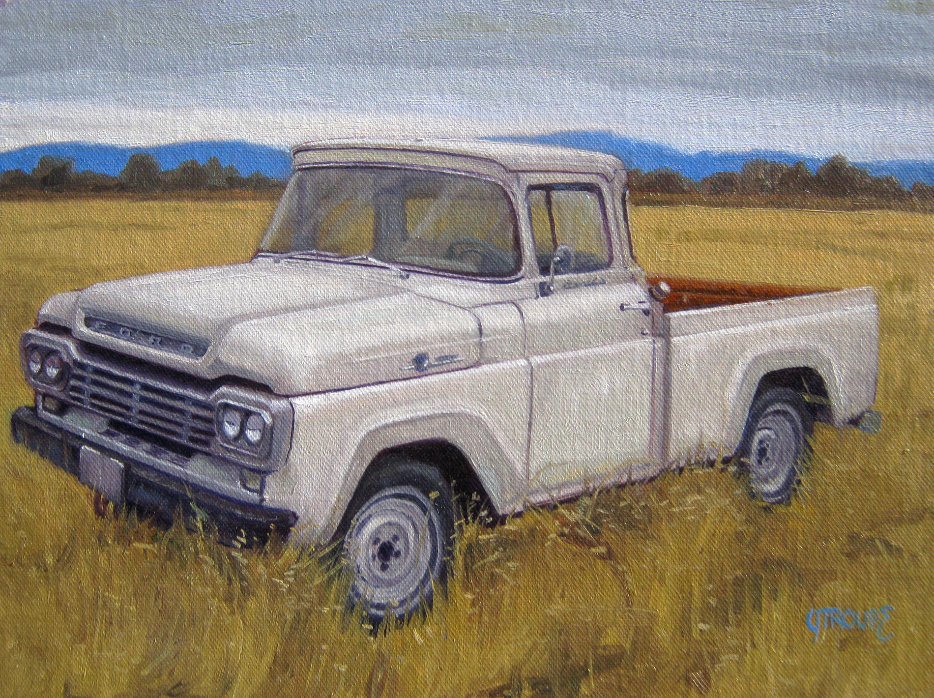 Jeff Troupe Fine Art Classic Car Paintings Truck Paintings