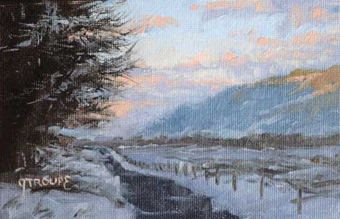 Montana plein air painter painting Rails to Trails
