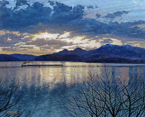 Montana plein air painter painting Transiting Pend d'Oreille