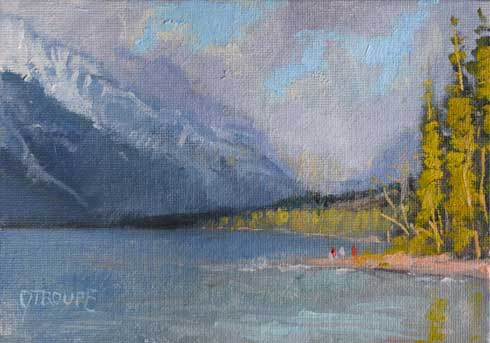 Montana plein air painter painting Warmth Before Winter