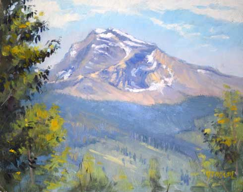 a hint of fall glacier park paintings