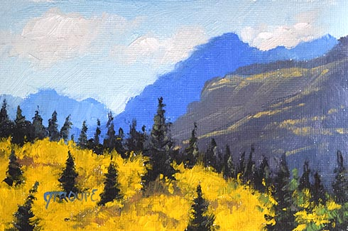 East Side Gold glacier park paintings