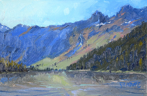 Payoff: Avalanche Lake glacier park paintings