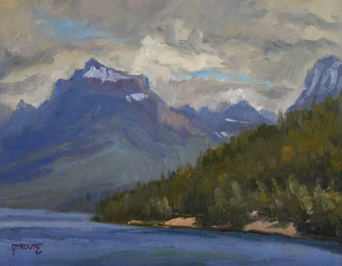 return from the pass glacier park paintings