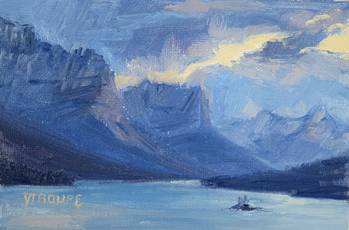 St. Mary Pinnacles glacier park paintings